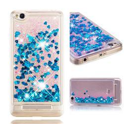 Dynamic Liquid Glitter Quicksand Sequins TPU Phone Case for Xiaomi Redmi 4A - Blue
