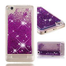 Dynamic Liquid Glitter Quicksand Sequins TPU Phone Case for Xiaomi Redmi 4A - Purple