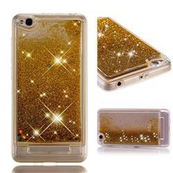 Dynamic Liquid Glitter Quicksand Sequins TPU Phone Case for Xiaomi Redmi 4A - Golden