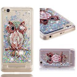 Seashell Owl Dynamic Liquid Glitter Quicksand Soft TPU Case for Xiaomi Redmi 4A