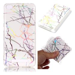Color White Marble Pattern Bright Color Laser Soft TPU Case for Xiaomi Redmi 4A