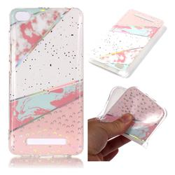 Matching Color Marble Pattern Bright Color Laser Soft TPU Case for Xiaomi Redmi 4A