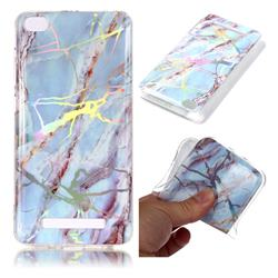 Light Blue Marble Pattern Bright Color Laser Soft TPU Case for Xiaomi Redmi 4A