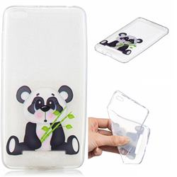 Bamboo Panda Clear Varnish Soft Phone Back Cover for Xiaomi Redmi 4A