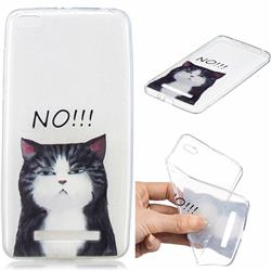 Cat Say No Clear Varnish Soft Phone Back Cover for Xiaomi Redmi 4A