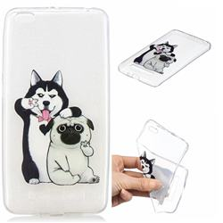 Selfie Dog Clear Varnish Soft Phone Back Cover for Xiaomi Redmi 4A