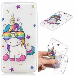 Glasses Unicorn Clear Varnish Soft Phone Back Cover for Xiaomi Redmi 4A