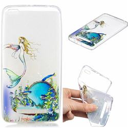 Mermaid Clear Varnish Soft Phone Back Cover for Xiaomi Redmi 4A