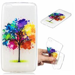 Oil Painting Tree Clear Varnish Soft Phone Back Cover for Xiaomi Redmi 4A
