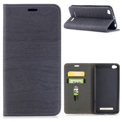Tree Bark Pattern Automatic suction Leather Wallet Case for Xiaomi Redmi 4A - Gray