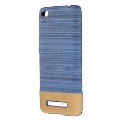 Canvas Cloth Coated Plastic Back Cover for Xiaomi Redmi 4A - Light Blue
