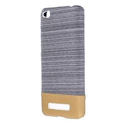 Canvas Cloth Coated Plastic Back Cover for Xiaomi Redmi 4A - Light Grey