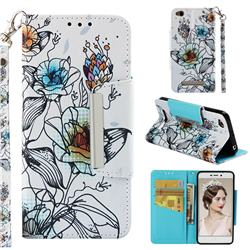 Fotus Flower Big Metal Buckle PU Leather Wallet Phone Case for Xiaomi Redmi 4A