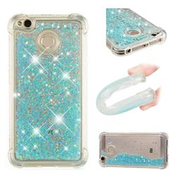 Dynamic Liquid Glitter Sand Quicksand TPU Case for Xiaomi Redmi 4 (4X) - Silver Blue Star