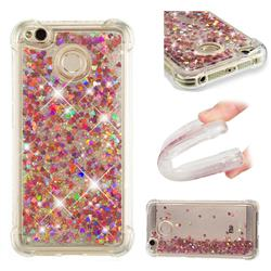 Dynamic Liquid Glitter Sand Quicksand TPU Case for Xiaomi Redmi 4 (4X) - Rose Gold Love Heart
