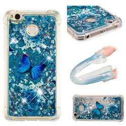 Flower Butterfly Dynamic Liquid Glitter Sand Quicksand Star TPU Case for Xiaomi Redmi 4 (4X)
