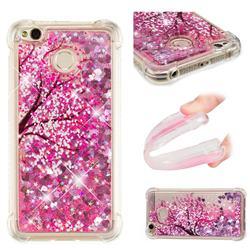 Pink Cherry Blossom Dynamic Liquid Glitter Sand Quicksand Star TPU Case for Xiaomi Redmi 4 (4X)