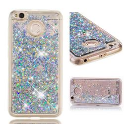 Dynamic Liquid Glitter Quicksand Sequins TPU Phone Case for Xiaomi Redmi 4 (4X) - Silver