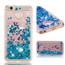 Dynamic Liquid Glitter Quicksand Sequins TPU Phone Case for Xiaomi Redmi 4 (4X) - Blue