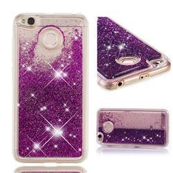 Dynamic Liquid Glitter Quicksand Sequins TPU Phone Case for Xiaomi Redmi 4 (4X) - Purple