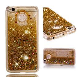 Dynamic Liquid Glitter Quicksand Sequins TPU Phone Case for Xiaomi Redmi 4 (4X) - Golden