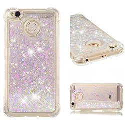 Dynamic Liquid Glitter Sand Quicksand Star TPU Case for Xiaomi Redmi 4 (4X) - Pink