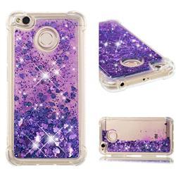 Dynamic Liquid Glitter Sand Quicksand Star TPU Case for Xiaomi Redmi 4 (4X) - Purple
