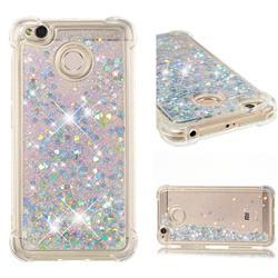Dynamic Liquid Glitter Sand Quicksand Star TPU Case for Xiaomi Redmi 4 (4X) - Silver