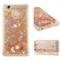 Dynamic Liquid Glitter Sand Quicksand Star TPU Case for Xiaomi Redmi 4 (4X) - Diamond Gold
