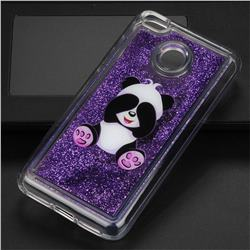 Naughty Panda Glassy Glitter Quicksand Dynamic Liquid Soft Phone Case for Xiaomi Redmi 4 (4X)