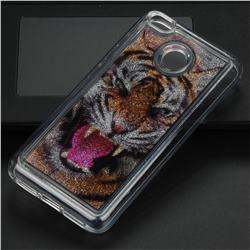 Tiger Glassy Glitter Quicksand Dynamic Liquid Soft Phone Case for Xiaomi Redmi 4 (4X)