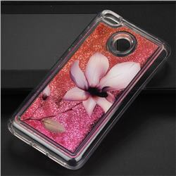 Lotus Glassy Glitter Quicksand Dynamic Liquid Soft Phone Case for Xiaomi Redmi 4 (4X)
