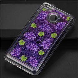 Purple Grape Glassy Glitter Quicksand Dynamic Liquid Soft Phone Case for Xiaomi Redmi 4 (4X)