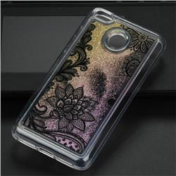 Diagonal Lace Glassy Glitter Quicksand Dynamic Liquid Soft Phone Case for Xiaomi Redmi 4 (4X)