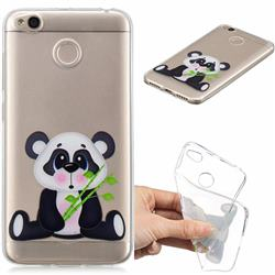 Bamboo Panda Clear Varnish Soft Phone Back Cover for Xiaomi Redmi 4 (4X)