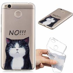 Cat Say No Clear Varnish Soft Phone Back Cover for Xiaomi Redmi 4 (4X)