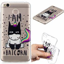 Batman Clear Varnish Soft Phone Back Cover for Xiaomi Redmi 4 (4X)