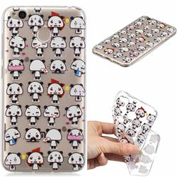 Mini Panda Clear Varnish Soft Phone Back Cover for Xiaomi Redmi 4 (4X)