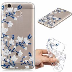 Magnolia Flower Clear Varnish Soft Phone Back Cover for Xiaomi Redmi 4 (4X)