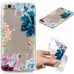 Gem Flower Clear Varnish Soft Phone Back Cover for Xiaomi Redmi 4 (4X)
