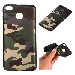 Camouflage Soft TPU Back Cover for Xiaomi Redmi 4 (4X) - Gold Green