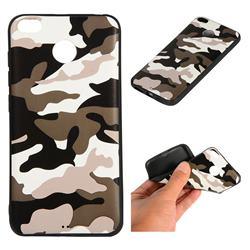 Camouflage Soft TPU Back Cover for Xiaomi Redmi 4 (4X) - Black White