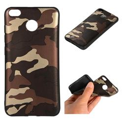 Camouflage Soft TPU Back Cover for Xiaomi Redmi 4 (4X) - Gold Coffee