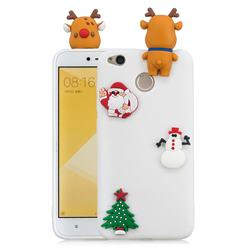 White Elk Christmas Xmax Soft 3D Silicone Case for Xiaomi Redmi 4 (4X)