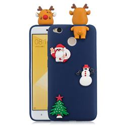 Navy Elk Christmas Xmax Soft 3D Silicone Case for Xiaomi Redmi 4 (4X)