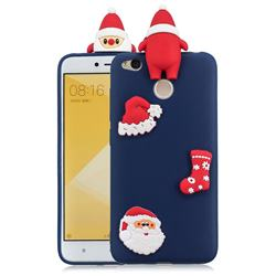 Navy Santa Claus Christmas Xmax Soft 3D Silicone Case for Xiaomi Redmi 4 (4X)