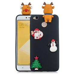 Black Elk Christmas Xmax Soft 3D Silicone Case for Xiaomi Redmi 4 (4X)