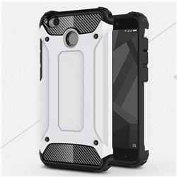 King Kong Armor Premium Shockproof Dual Layer Rugged Hard Cover for Xiaomi Redmi 4 (4X) - White