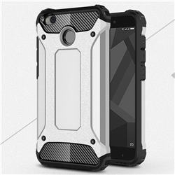 King Kong Armor Premium Shockproof Dual Layer Rugged Hard Cover for Xiaomi Redmi 4 (4X) - Technology Silver