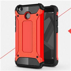 King Kong Armor Premium Shockproof Dual Layer Rugged Hard Cover for Xiaomi Redmi 4 (4X) - Big Red